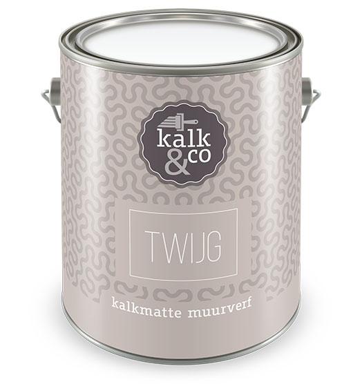 Kalkverf Twijg. Kalkverf ontwikkeld door Kalk&Co. Bijzondere kwaliteit kalkverf, geen krijtverf. Diverse prachtige tinten. Online kalkverf kopen? Kalkverf van Kalk&Co is nu ook online direct te koop in onze webshop.