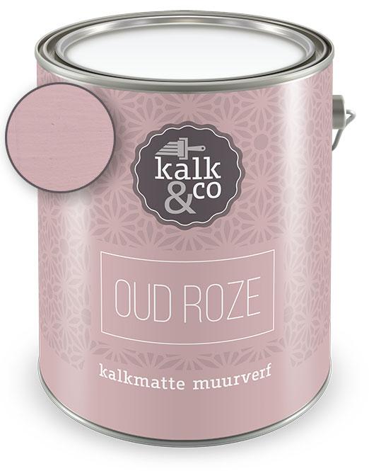 Beroemd Kalkverf Oud Roze (2,5 liter blik) - Kalk & Co KALKVERF EN BETONSTUC YN98
