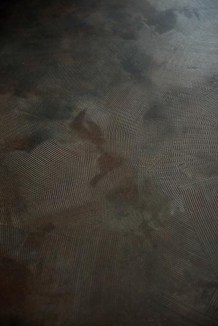 Art Collection van Hetty Martens, Beton Cire, betonciré, tafel met eiken blokpoot. Diverse afmetingen, betonkleuren en poten mogelijk.