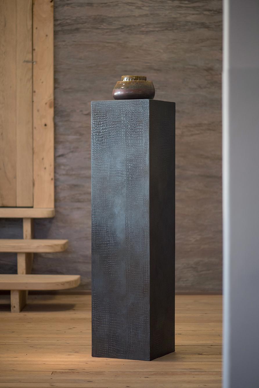 beton cire metallic groen blauwe zuil 120 cm kalk co kalkverf en betonstuc. Black Bedroom Furniture Sets. Home Design Ideas
