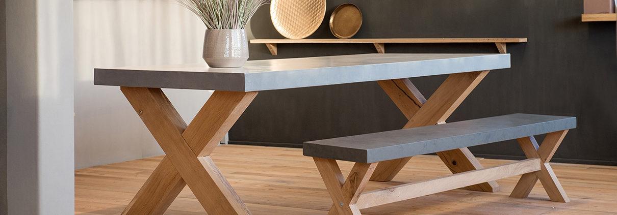 Stoere interieurobjecten van Kalk & Co. Ambachtelijk vakmanschap gemaakt in Overasselt. Ook maatwerk meubelen, tafels, banken, side tables en andere interieur producten mogelijk.
