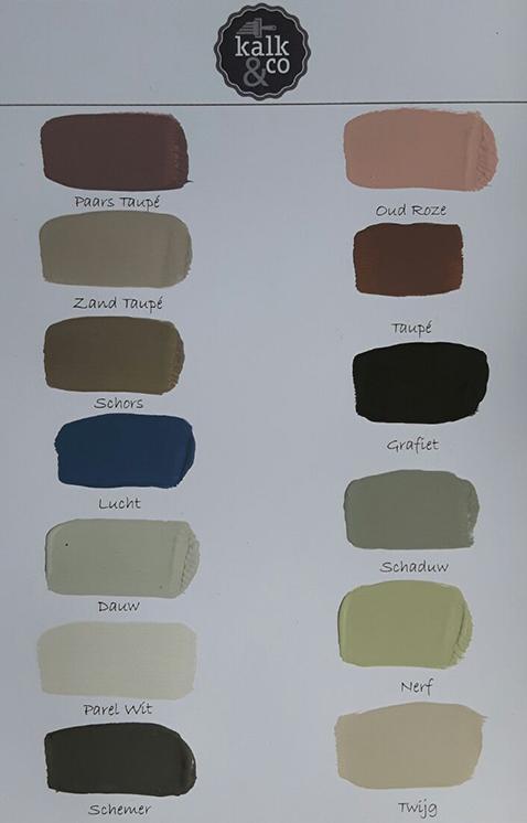latest kleurstaal van kalk u co kalkverven kalkverf